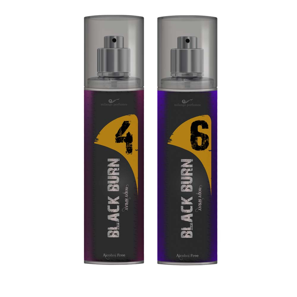 Black Burn 4 And 6 Set of 2 Alcohol Free Deodorants