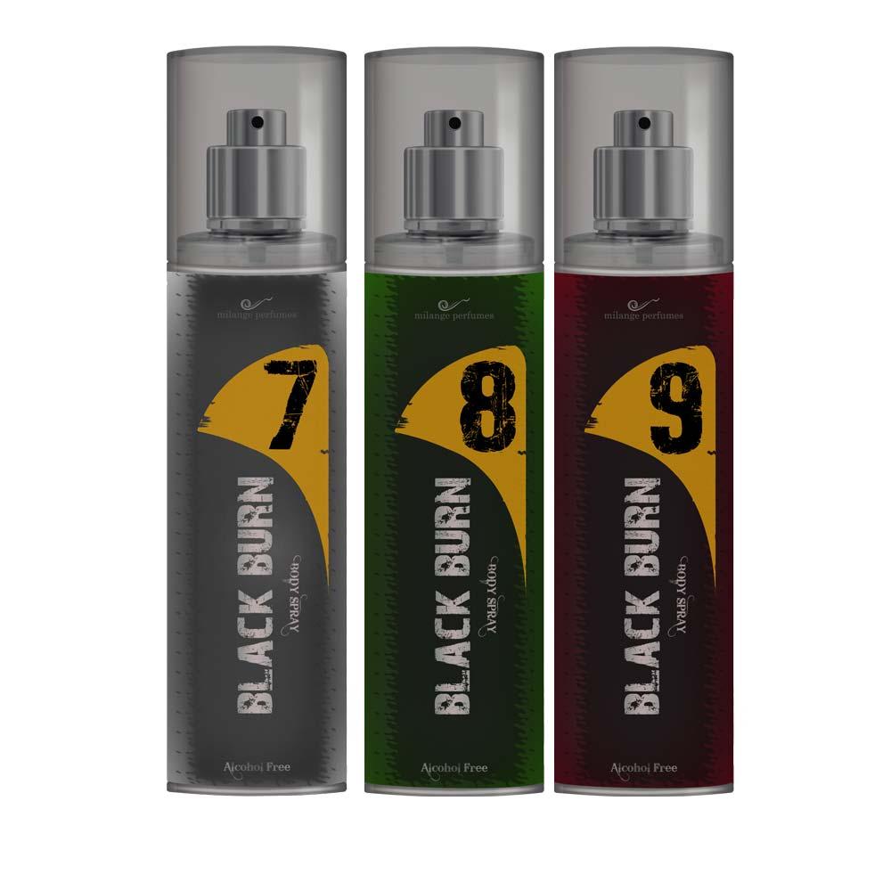 Black Burn 7,8,9 Set of 3 Alcohol Free Deodorants