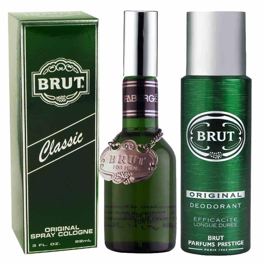 Buy Online Brut Original Perfume And Deodorant Spray Combo For Men