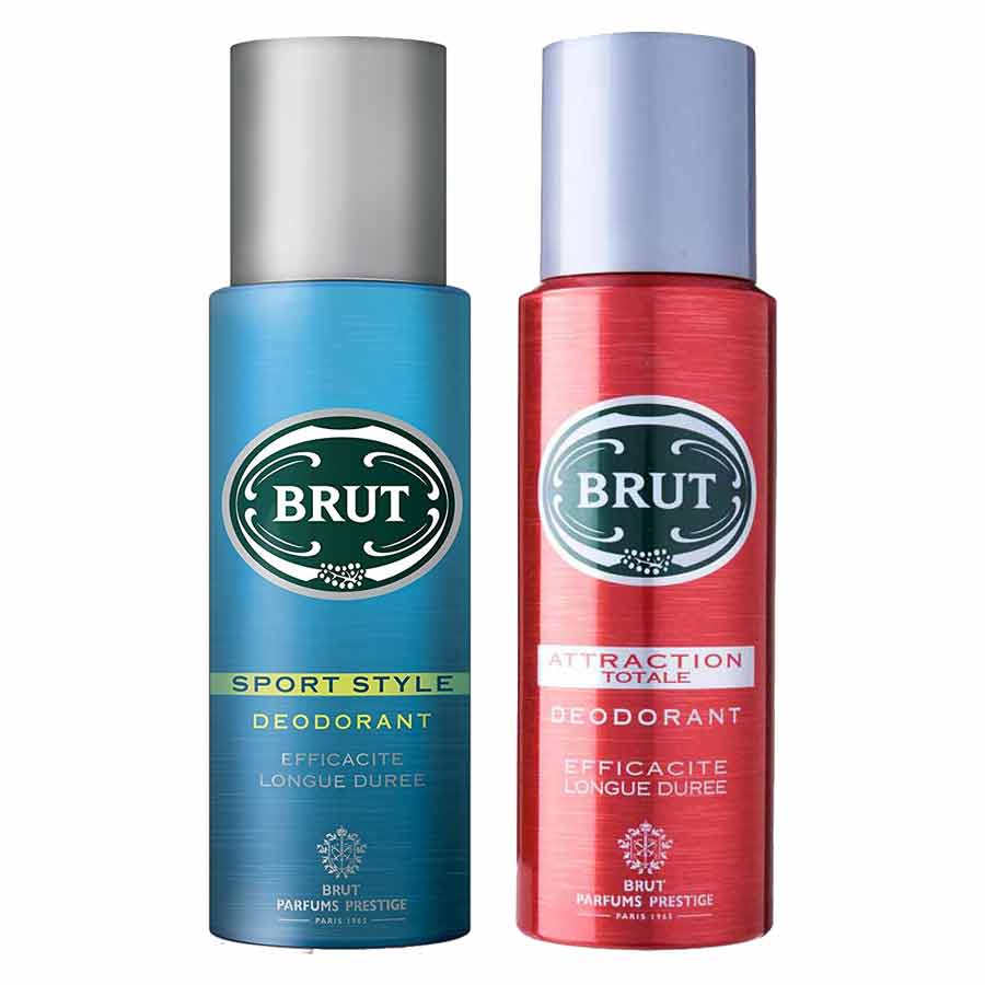 Brut Sport Style And Atraction Totale Pack Of 2 Deodorants
