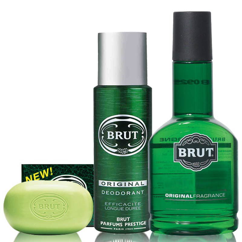 Brut Perfume Deodorant And Luxury Body Soap Combo