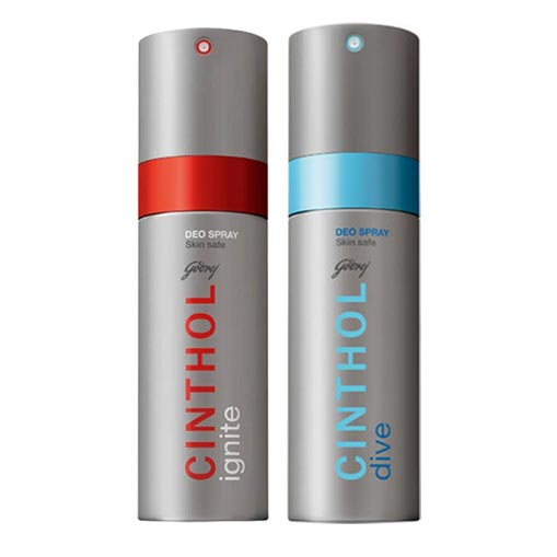 Cinthol Dive, Ignite Pack of 2 Deodorants