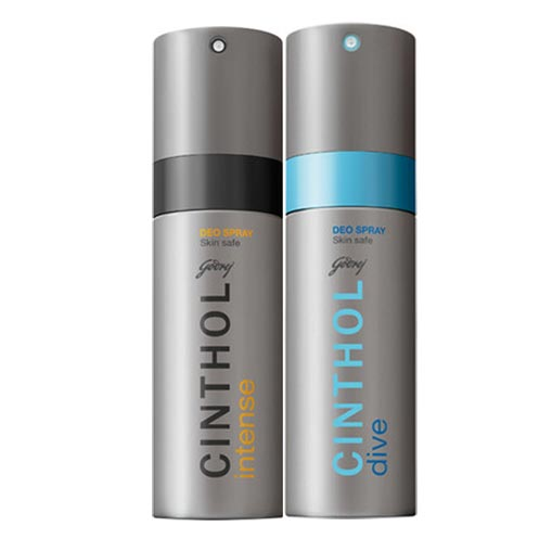 Cinthol Intense, Dive Pack of 2 Deodorants