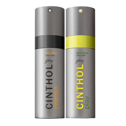 Cinthol Play, Intense Pack of 2 Deodorants