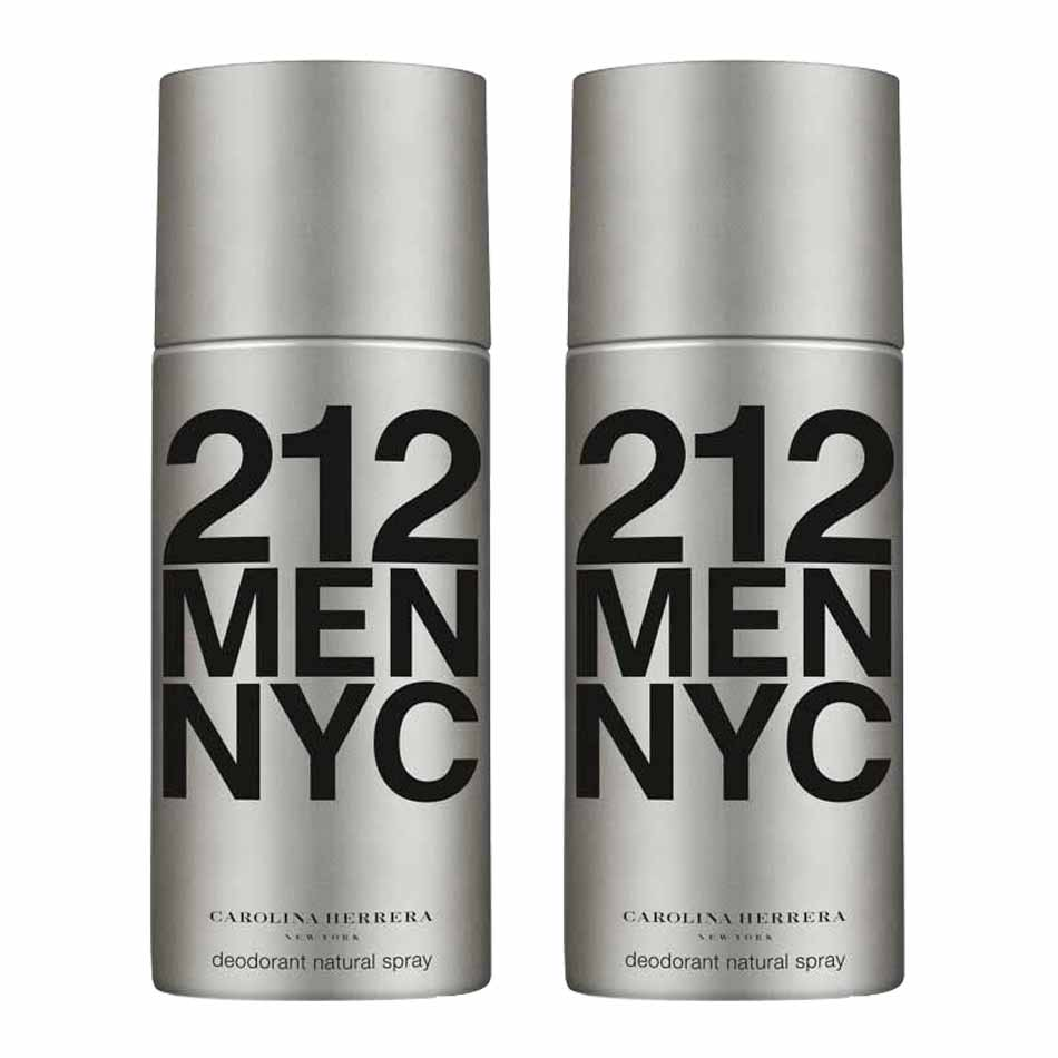 Carolina Herrera 212 Pack of 2 Deodorant Sprays