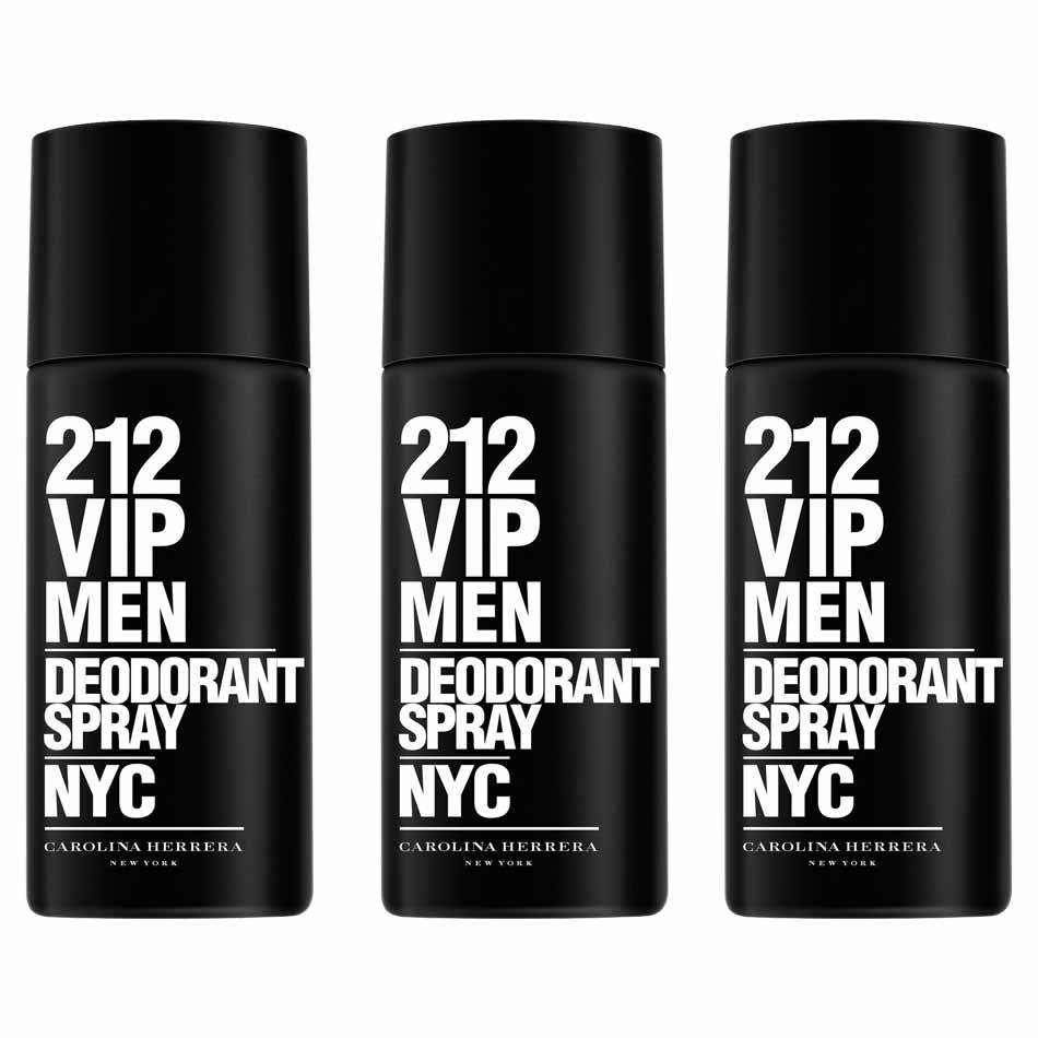 Carolina Herrera 212 VIP Pack of 3 Deodorant Sprays