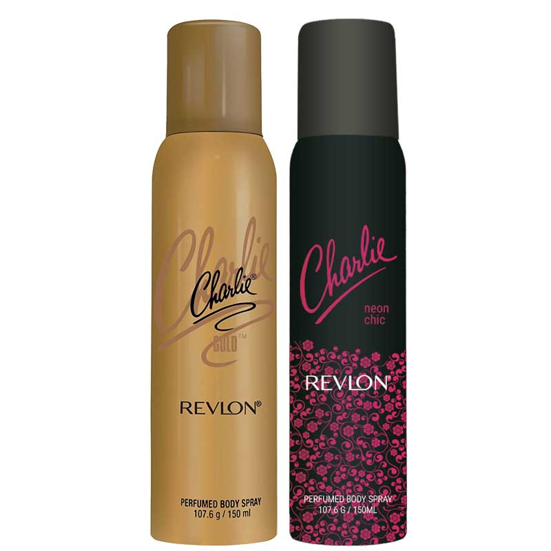 Revlon Charlie Gold And Neon Chic Set of 2 Deodorants