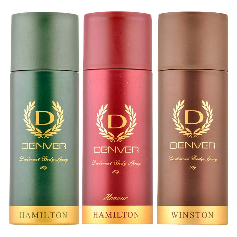 Denver Hamilton, Honour And Winston Pack of 3 Deodorants