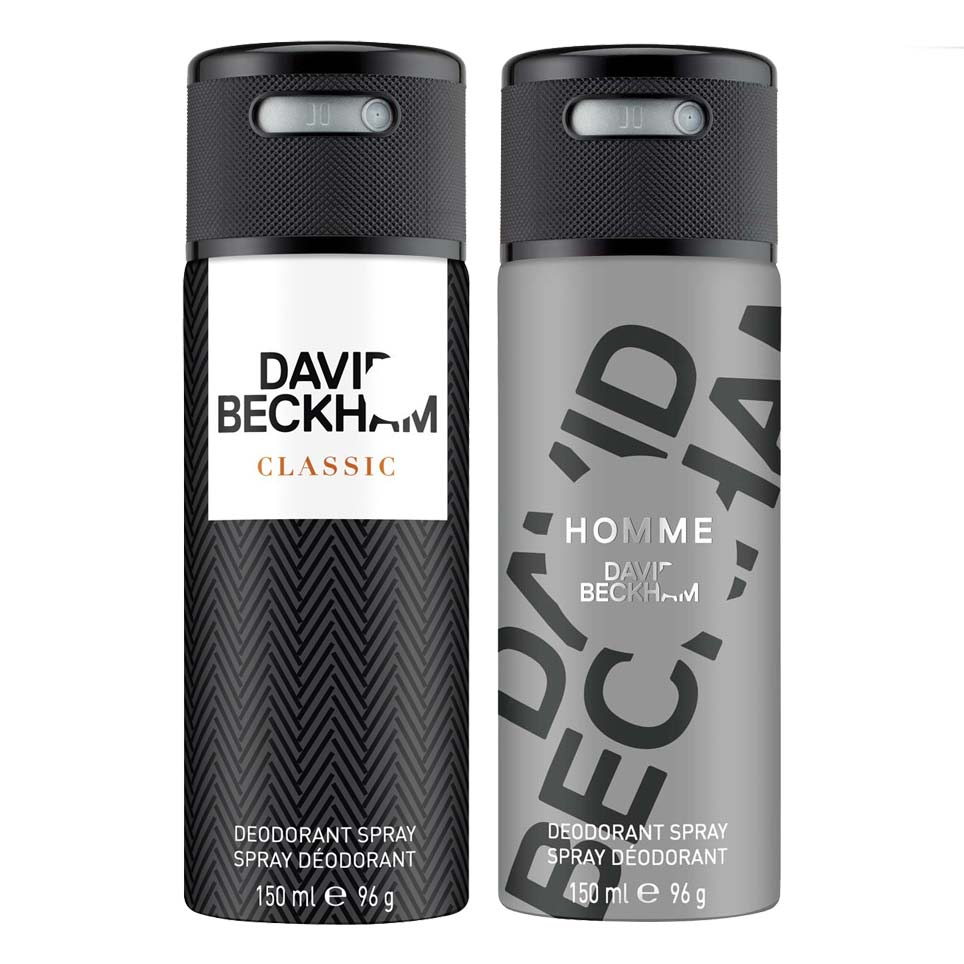David Beckham Classic And Homme Pack Of 2 Deodorants