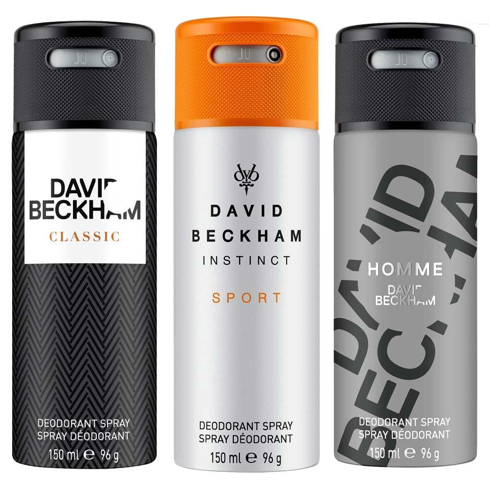 David Beckham Classic Instinct Sport And Homme Pack Of 3 Deodorants