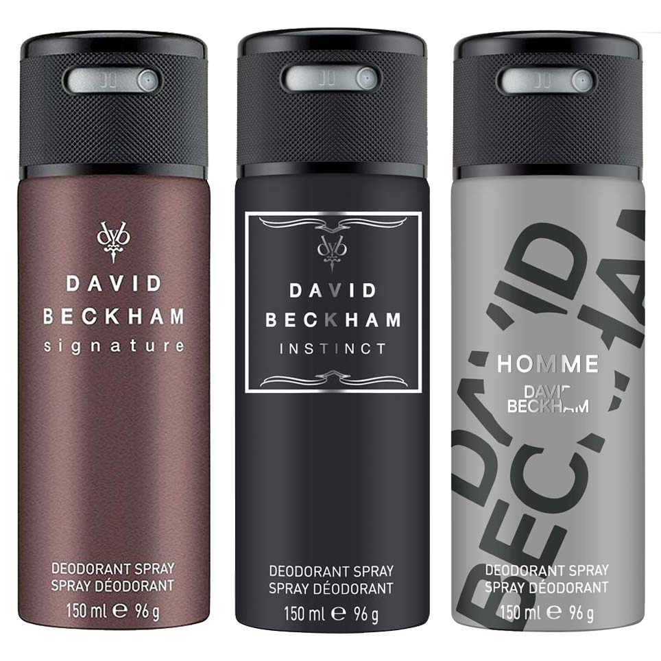 David Beckham Signature Instinct And Homme Pack Of 3 Deodorants
