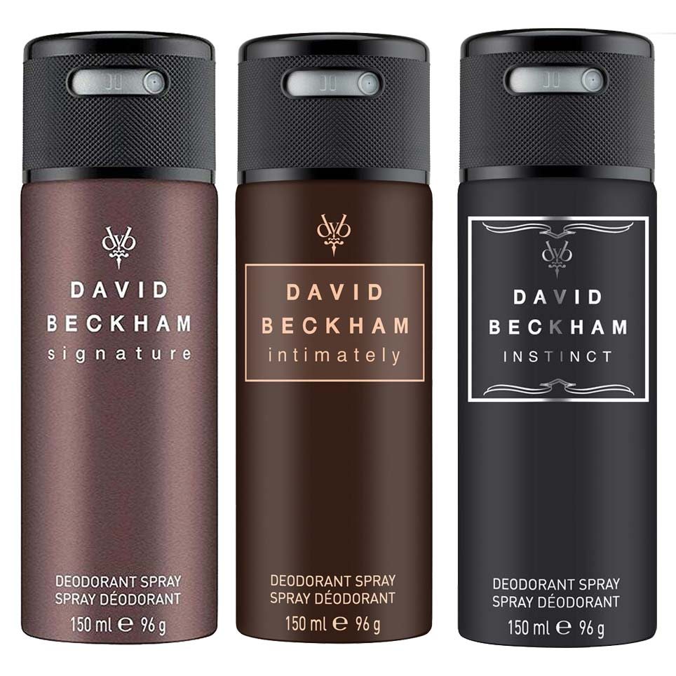 David Beckham Signature Instinct And Intimately Pack Of 3 Deodorants