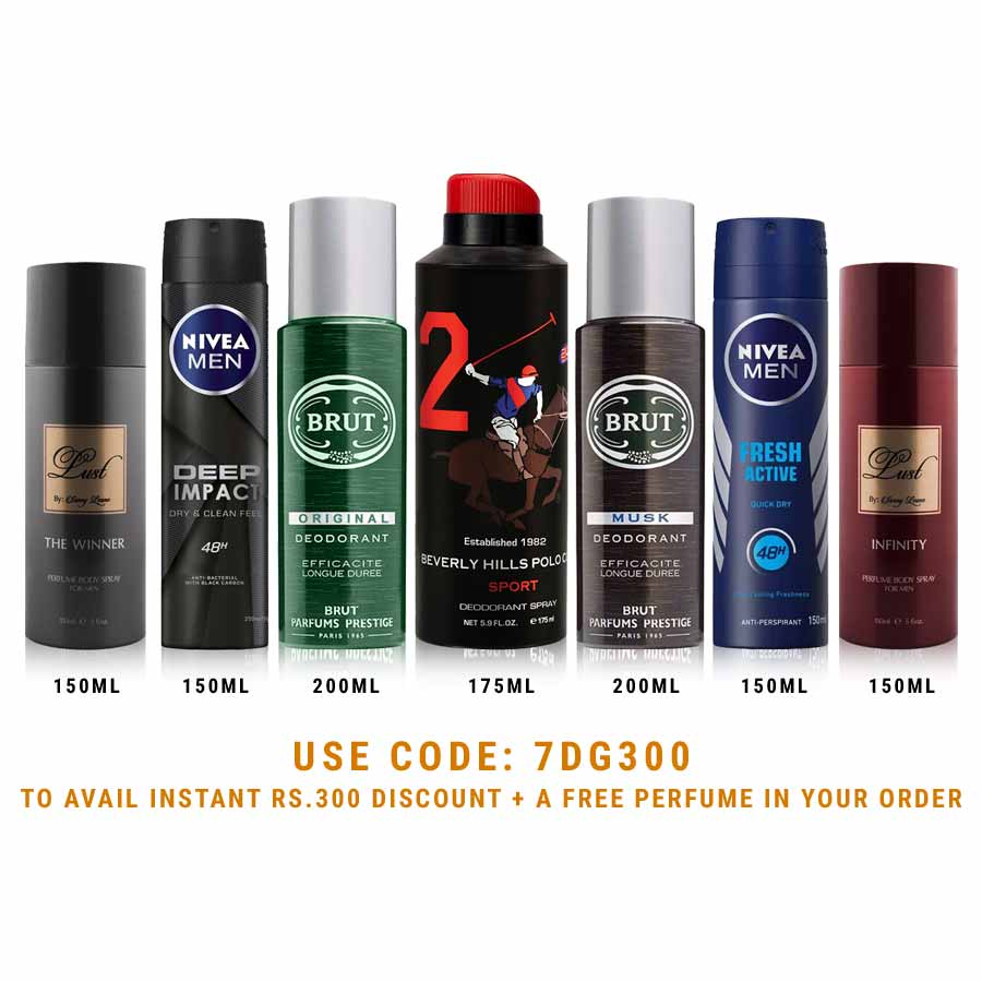 DeoBazaar Value Pack of 7 Extra Strong Deodorant Sprays