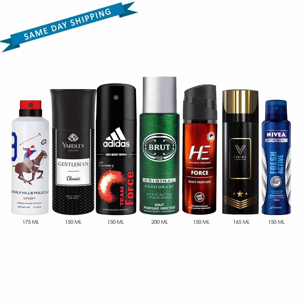 DeoBazaar Value Pack of 7 Long Lasting Deodorants