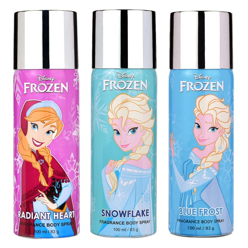 Disney Frozen Radiant Heart, Snowflake  And Blue Frost Pack of 3 Deodorants