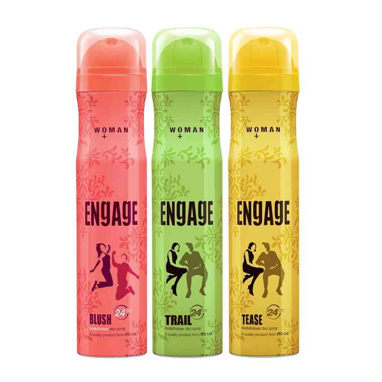 Engage Blush, Trail, Tease Pack of 3 Deodorants