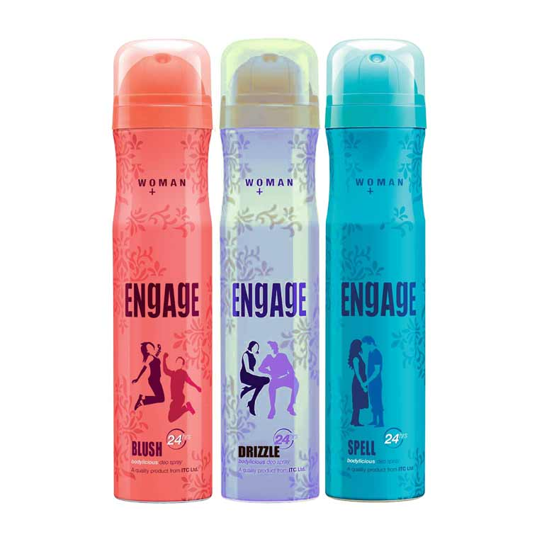 Engage Drizzle, Spell, Blush Pack of 3 Deodorants