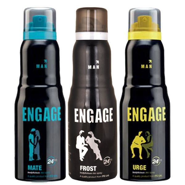 Engage Frost, Urge, Mate Pack of 3 Deodorants
