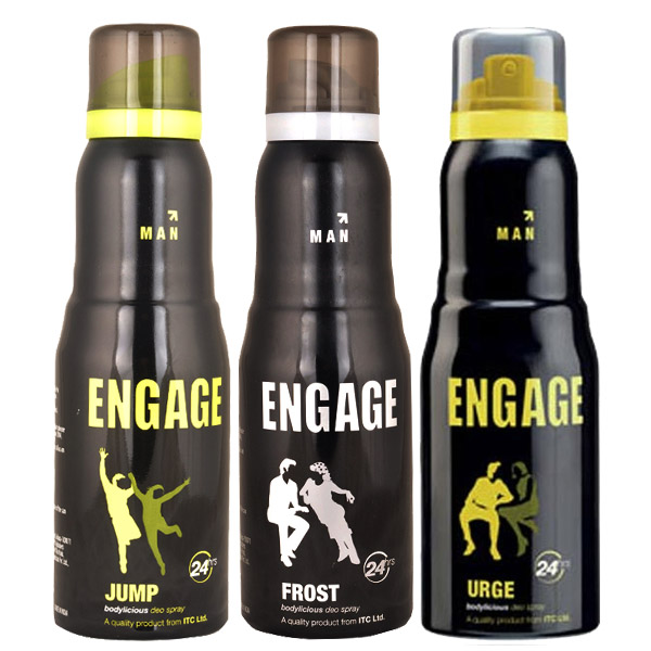 Engage Jump, Frost, Urge Pack of 3 Deodorants - Buy 2 Get 1 Free