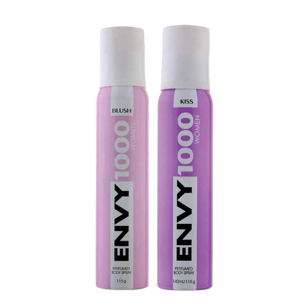 Envy 1000 Blush, Kiss Pack of 2 Deodorants