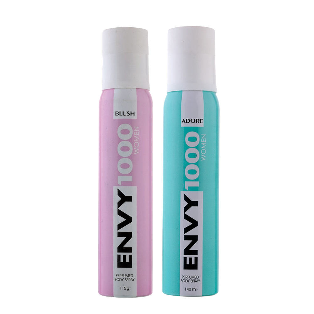 Envy 1000 Blush, Adore Pack of 2 Deodorants
