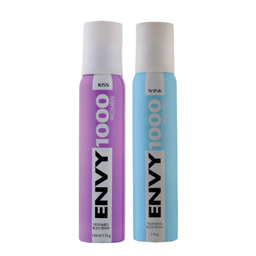 Envy 1000 Kiss, Wink Pack of 2 Deodorants