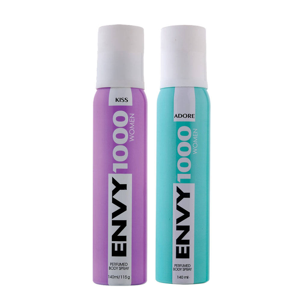 Envy 1000 Kiss, Adore Pack of 2 Deodorants