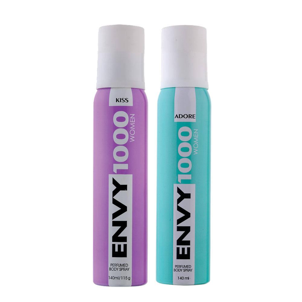 Envy 1000 Kiss, Adore Pack of 2 Deodorants