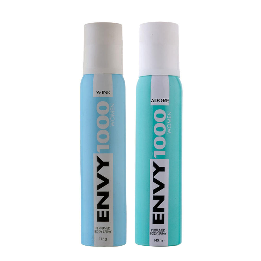 Envy 1000 Wink, Adore Pack of 2 Deodorants