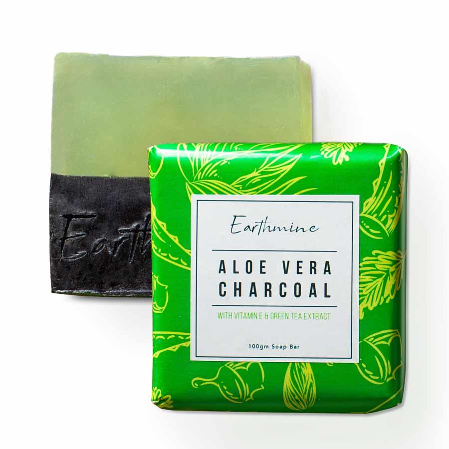 Earthmine Aloe Vera Charcoal Bath Soap
