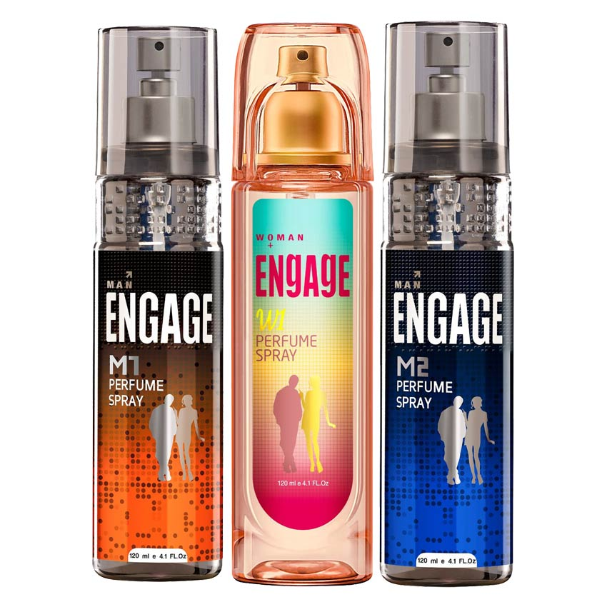 Engage M1 M2 W1 Value Pack of 3 Perfumes