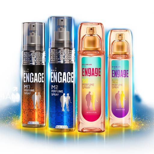 Engage M1 M2 W1 W2 Value Pack Of 4 Perfumes