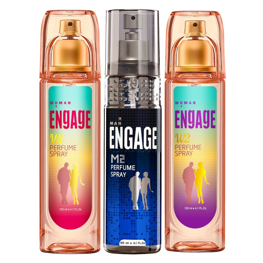 Engage M2 W1 W2 Value Pack of 3 Perfumes