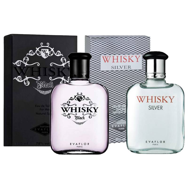 Evaflor Whisky Black And Silver Pack Of 2 Perfumes