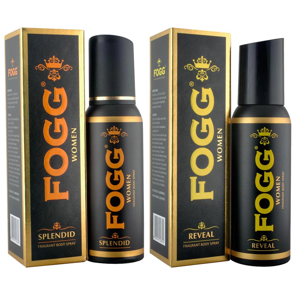 Fogg Black Collection Reveal, Splendid Pack of 2 Deodorants