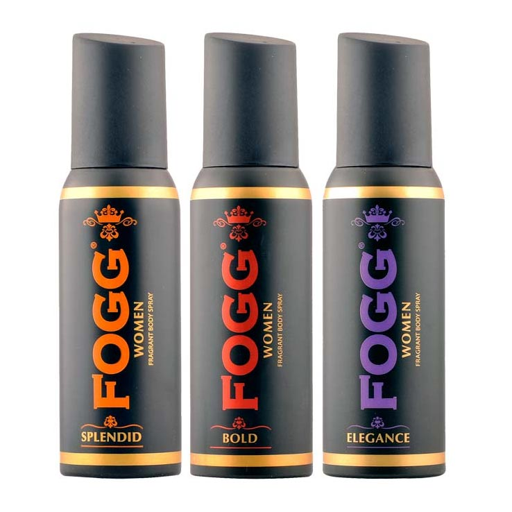 Fogg Black Collection Splendid, Bold, Elegance Pack of 3 Deodorants