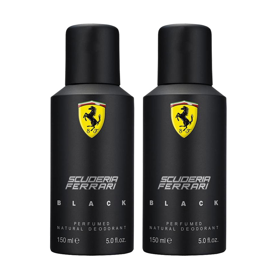 Scuderia Ferrari Black Pack of 2 Deodorants