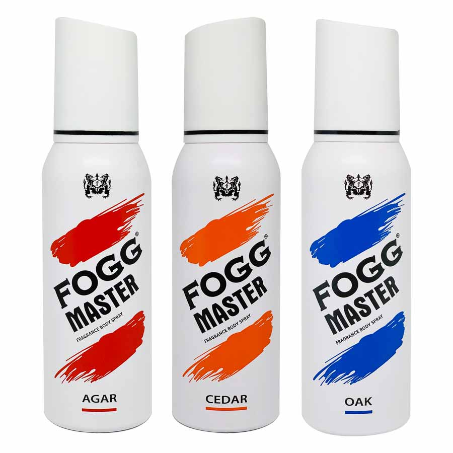 Fogg Master Agar Cedar Oak Pack of 3 Deodorant Sprays