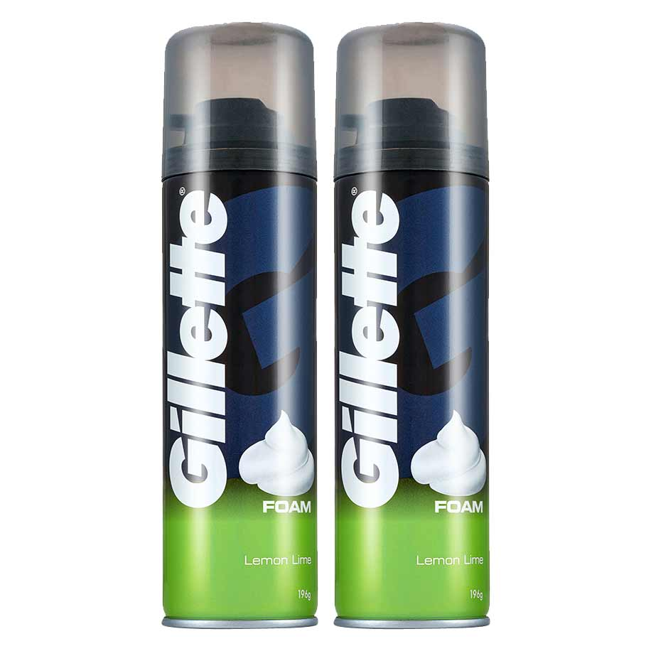 Gillette Lemon Lime Pack Of 2 Shave Foam
