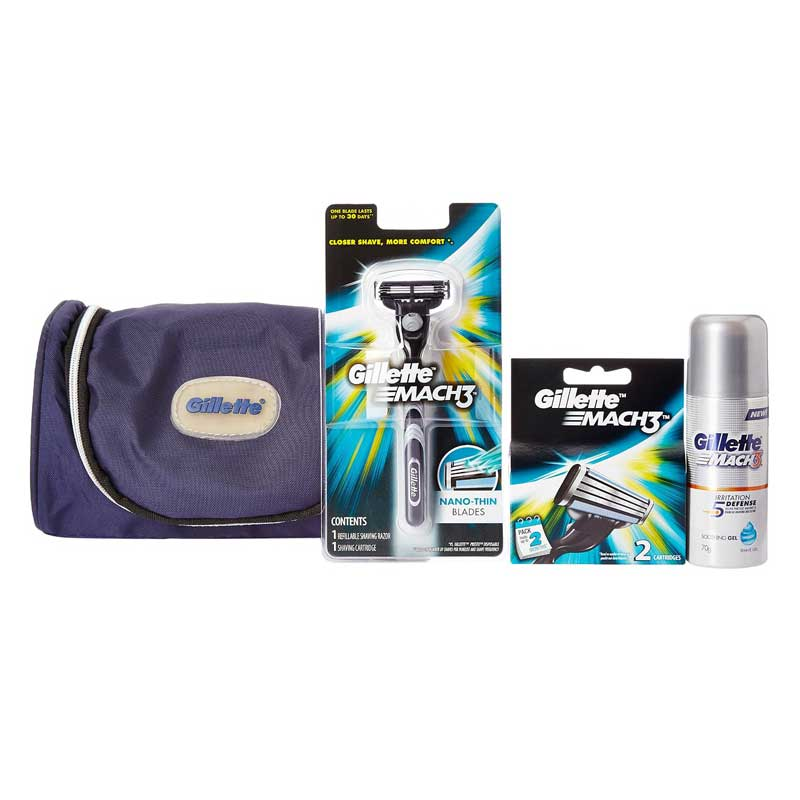 Gillette Mach 3 Limited Edition Travel Pack (Free Gillette Kit Bag)