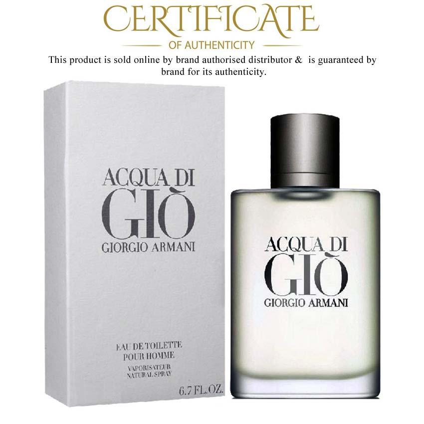 Acqua Di Gio Giorgio Armani EDT 100ml Perfume para Hombre