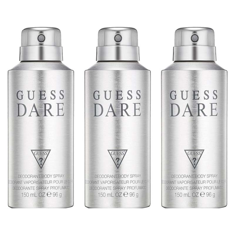 Guess Dare Pack Of 3 Deodorants