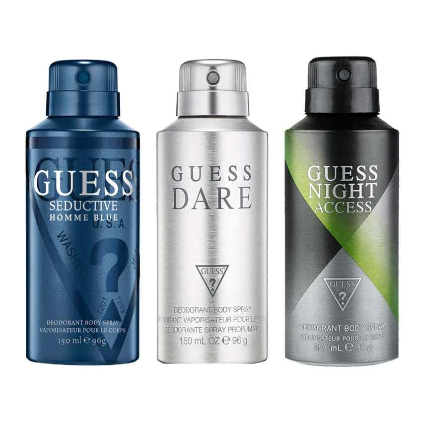 Guess Night Access, Seductive Homme Blue, Dare Pack of 3 Deodorants