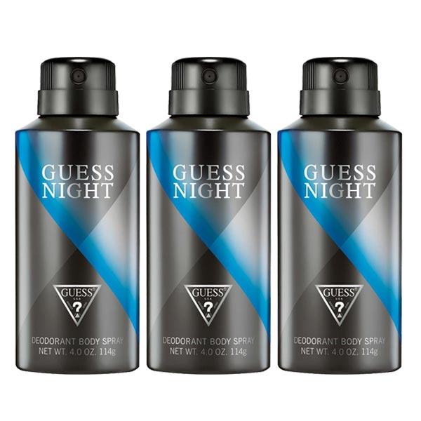 Guess Night Homme Pack Of 3 Deodorants