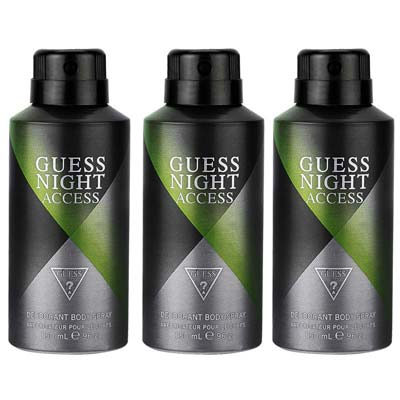 Guess Night Access Pack Of 3 Deodorants