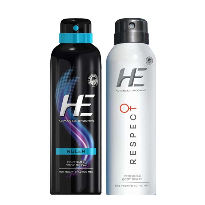 HE Be Interesting Ruler Respect Pack Of 2 Deodorants