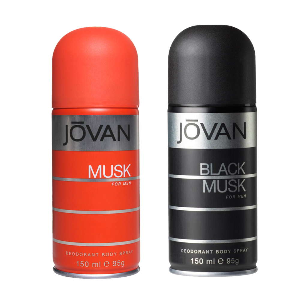 Jovan Black Musk, Musk Pack of 2 Deodorants