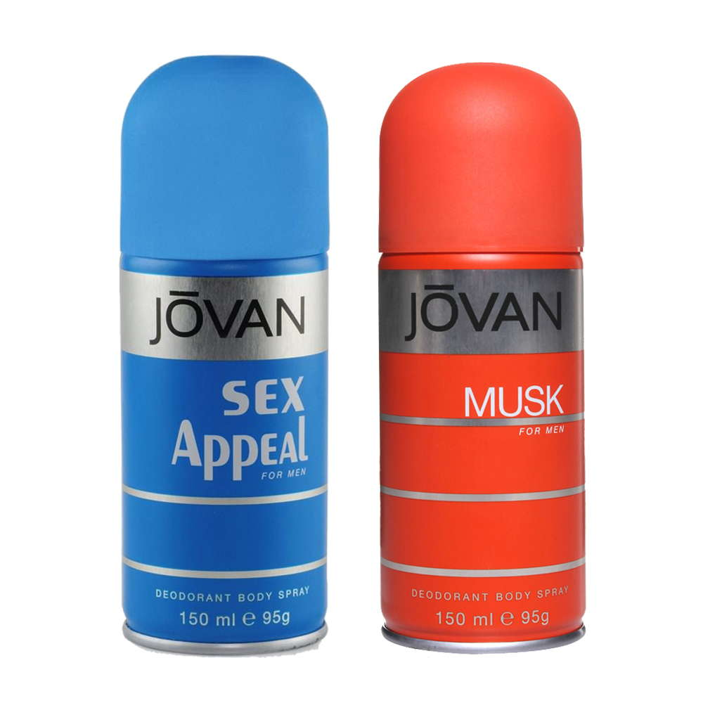 Jovan Musk, Sex Appeal Pack of 2 Deodorants
