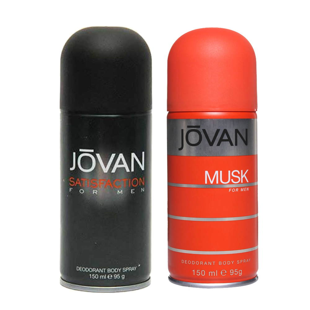 Jovan Musk, Satisfaction Pack of 2 Deodorants