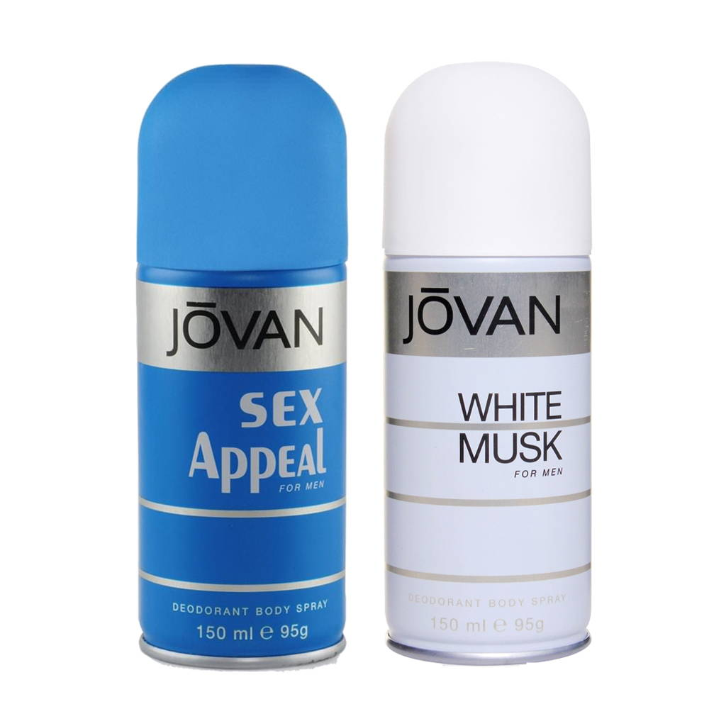Jovan Sex Appeal, White Musk Pack of 2 Deodorants